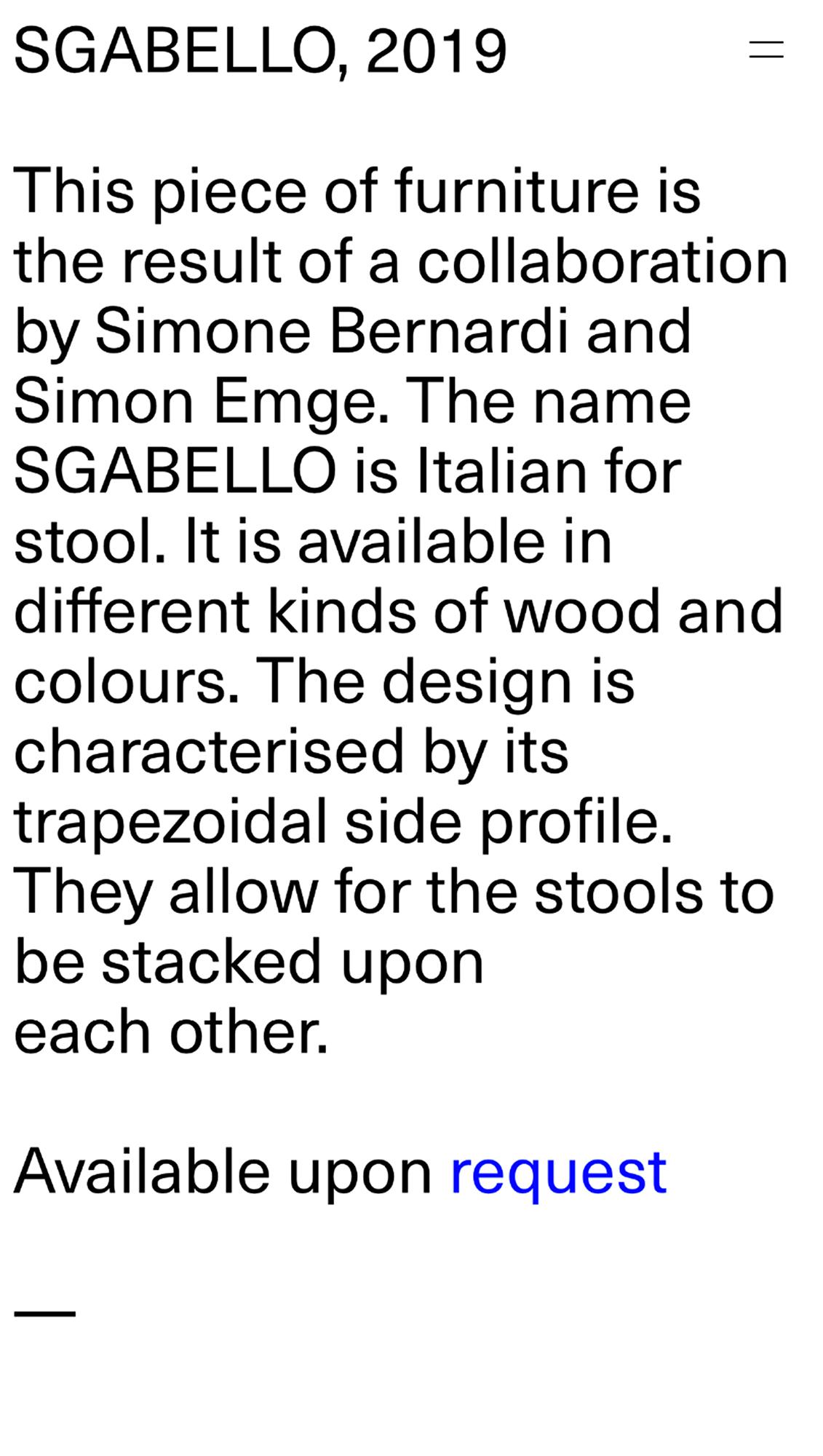 Sgabello Site 7